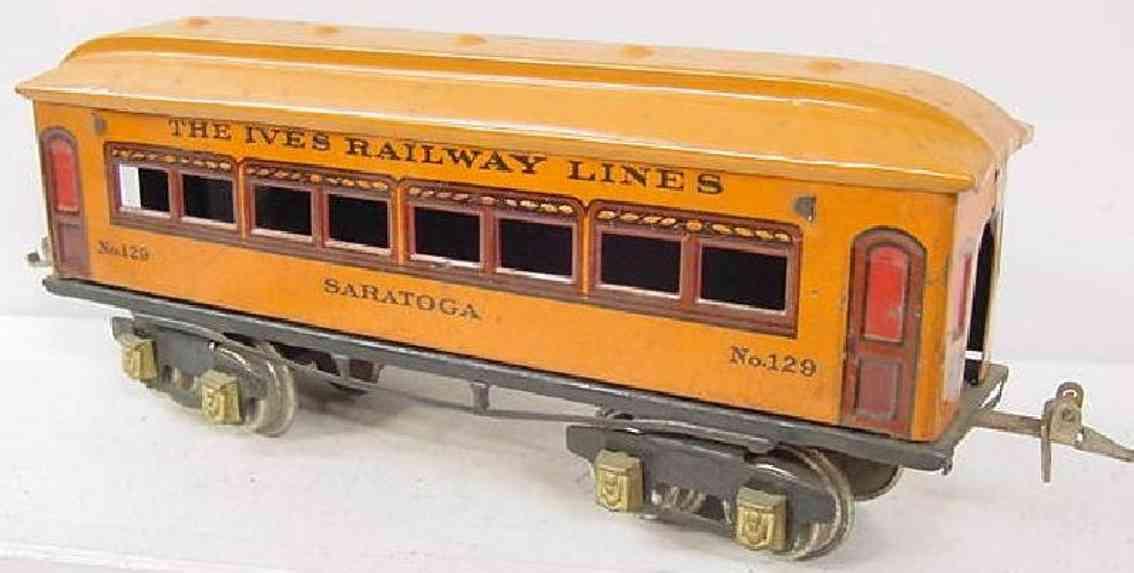 ives 129 1927 saratoga spielzeug eisenbahn personenwagen orange spur 0
