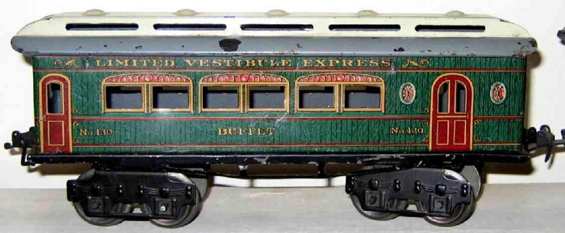 ives 130 1912 buffet spielzeug eisenbahn personenwagen holz gruen spur 0