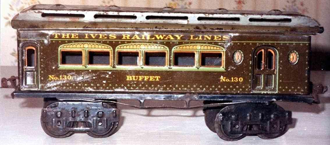 ives 130 1918 buffet spielzeug eisenbahn personenwagen stahlartig spur 0