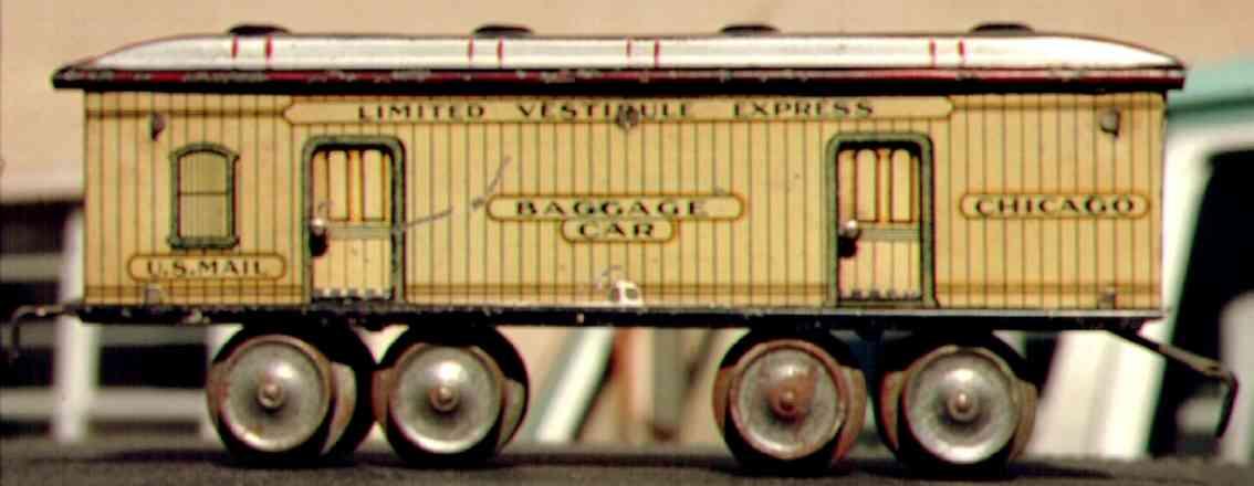 ives 131 1906 spielzeug eisenbahn gepaeckwagen spur 0