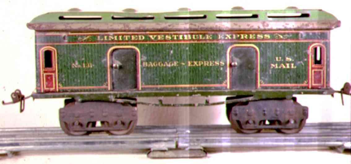 ives 131 1912 spielzeug eisenbahn gepaeckwagen rot gruen spur 0