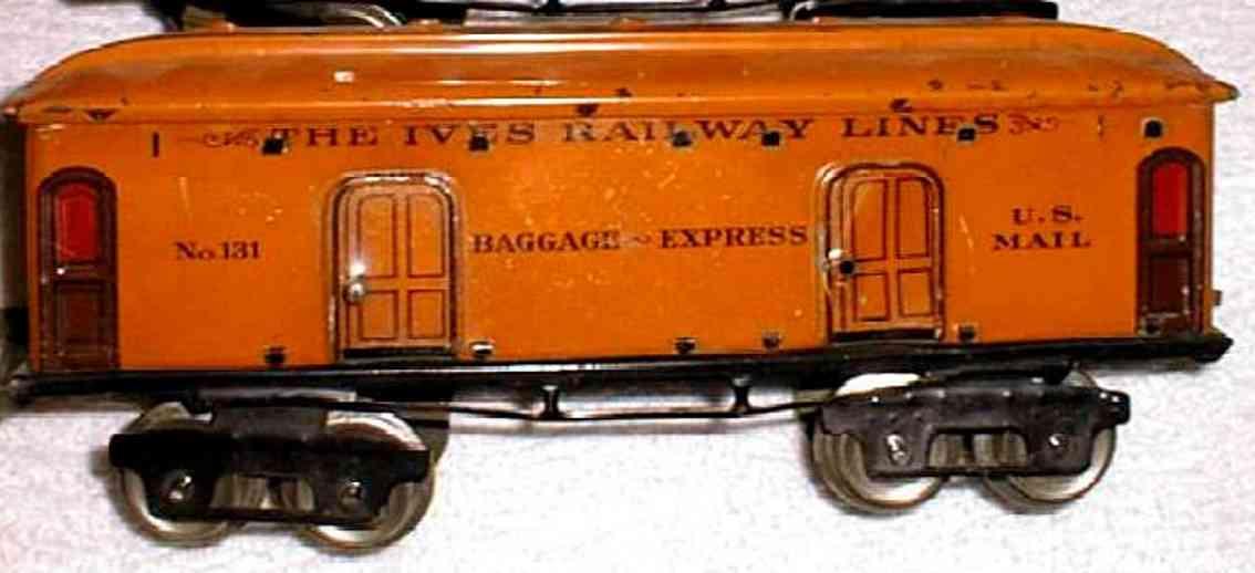 ives 131 1924 spielzeug eisenbahn gepaeckwagen orange spur 0