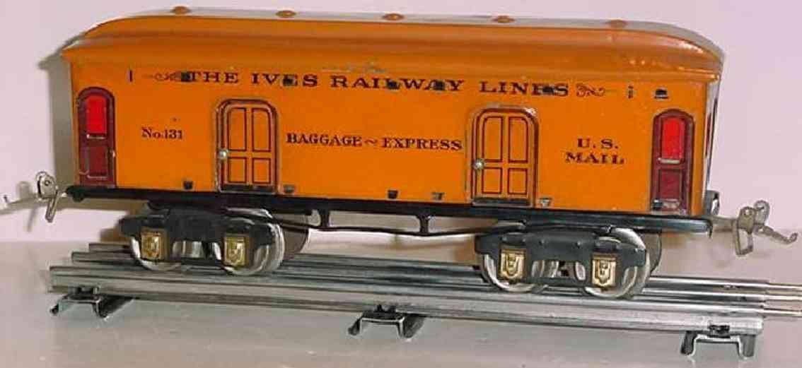 ives 131 1925 spielzeug eisenbahn gepaeckwagen orange spur 0