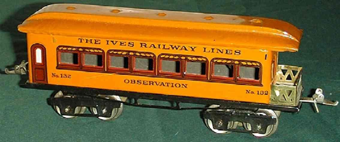 ives 132 spielzeug eisenbahn gepaeckwagen orange spur 0