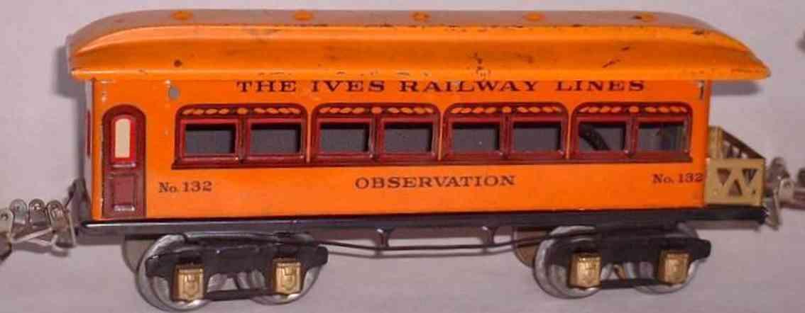 ives 132 spielzeug eisenbahn gepaeckwagen braun rot spur 0