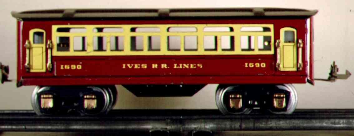 ives 1690 spielzeug eisenbahn personenwagen rot spur 0