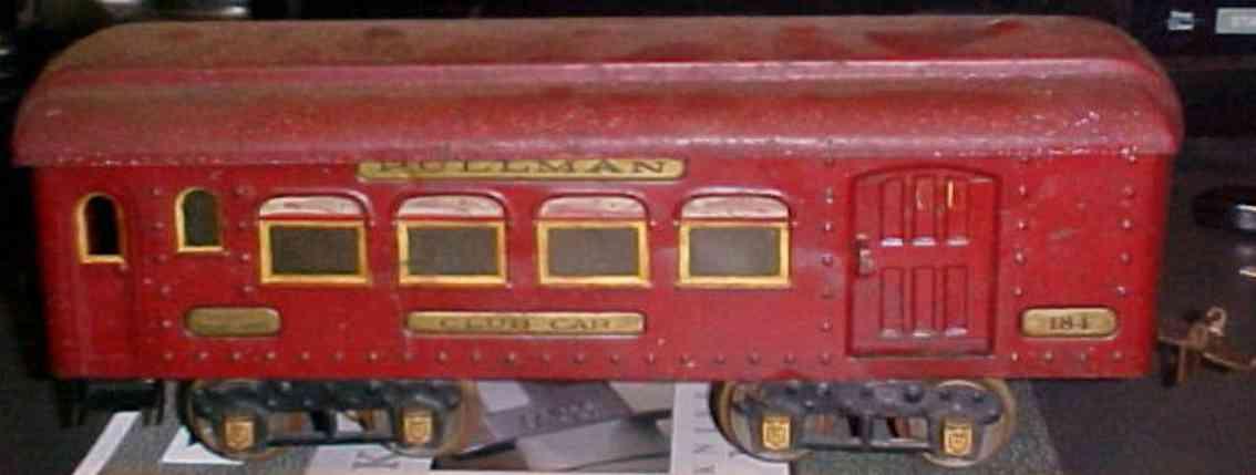 ives 184 1927 spielzeug eisenbahn schlafwagn in rot wide gauge