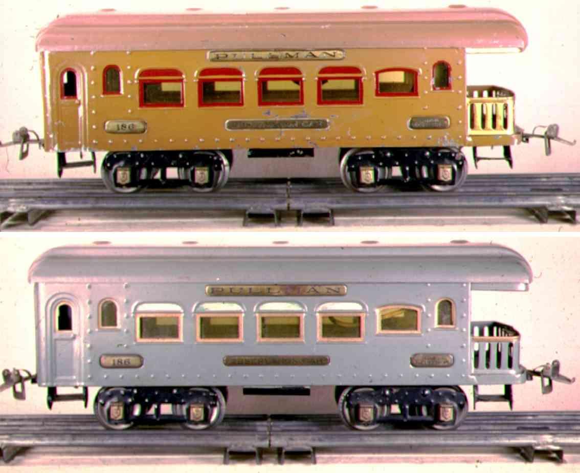 ives 186 spielzeug eisenbahn personenwagen aussichtswagen standard gauge