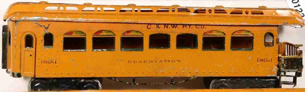 ives 189 spielzeug eisenbahn personenwagen aussichtswagen mit aussichtsplattform