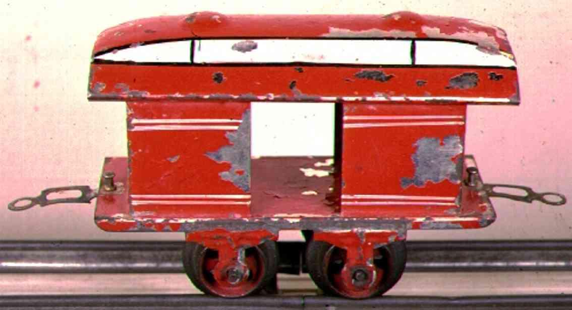 ives 50 1901 spielzeug eisenbahn personenwagen gepaeckwagen rot spur 0