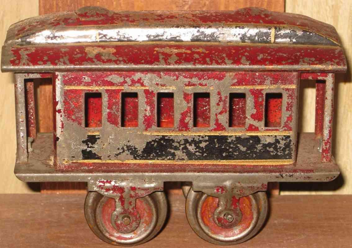 ives 50 1901 spielzeug eisenbahn personenwagen rot spur 0