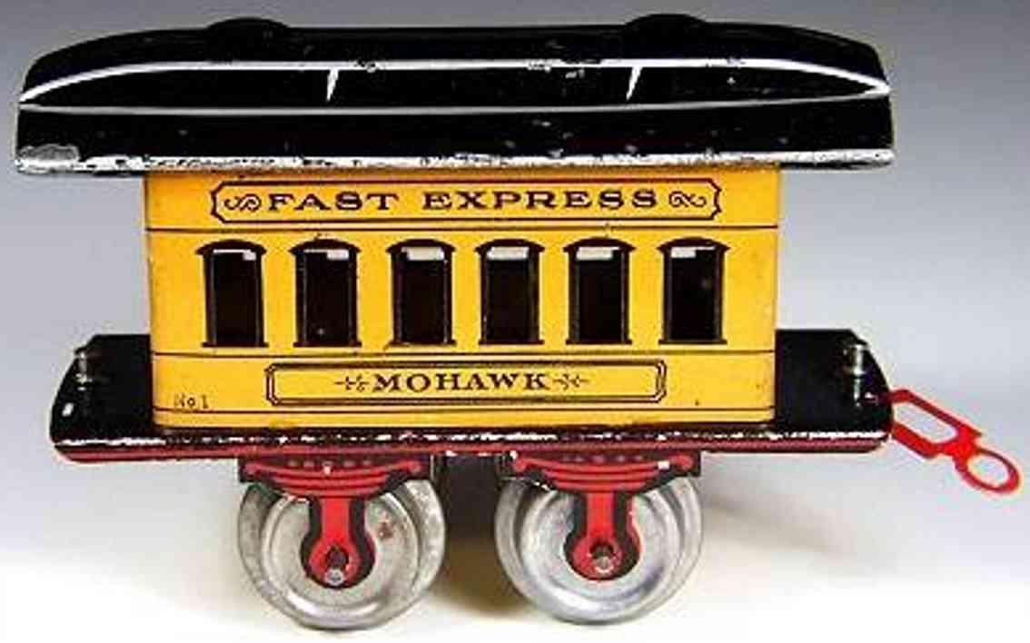 ives 50 1902 spielzeug eisenbahn personenwagen gelb fast express spur 0
