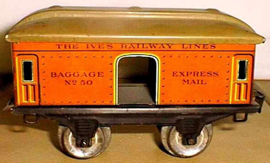 ives 50 1923 spielzeug eisenbahn gepaeckwagen rot express mail spur 0