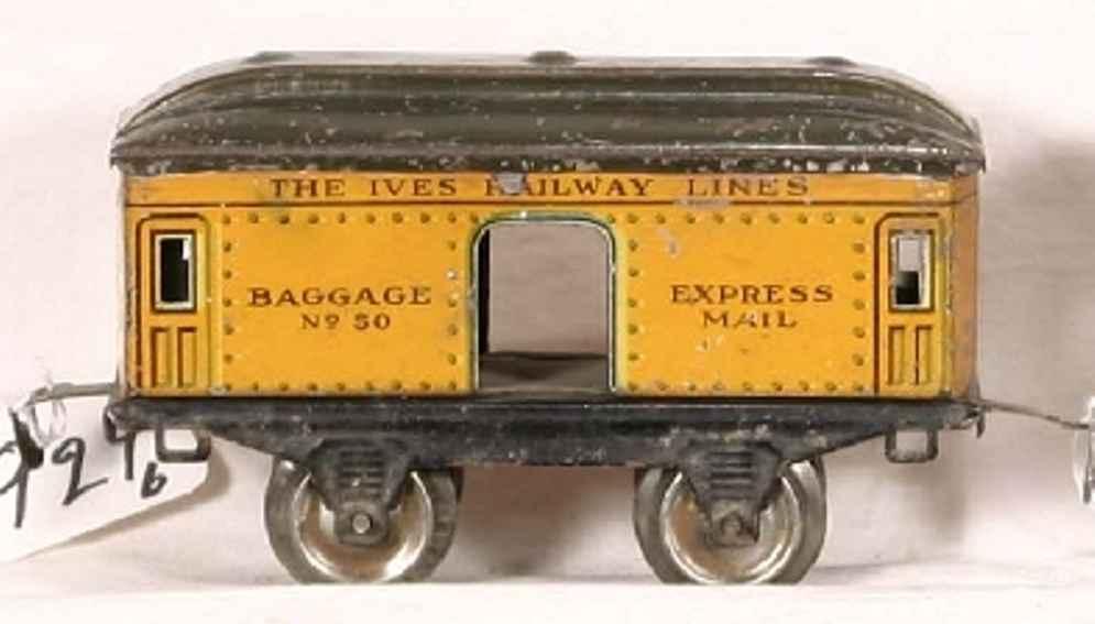 ives 1914 spielzeug eisenbahn personenwagen gepäckwagen