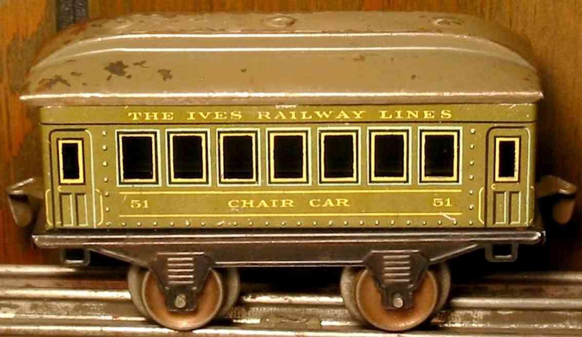 ives 51 1916 chair pennsylvania lines eisenbahn personenwagen oliv spur 0