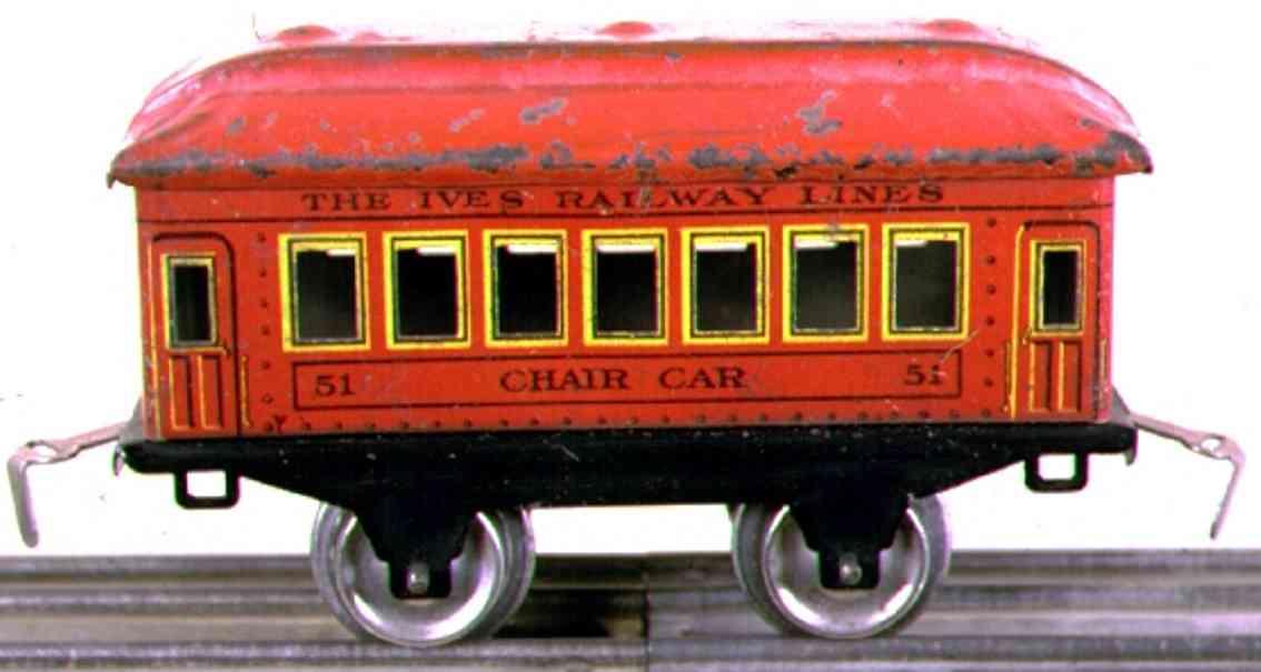 ives 51 1928 chair spielzeug eisenbahn personenwagen rot spur 0