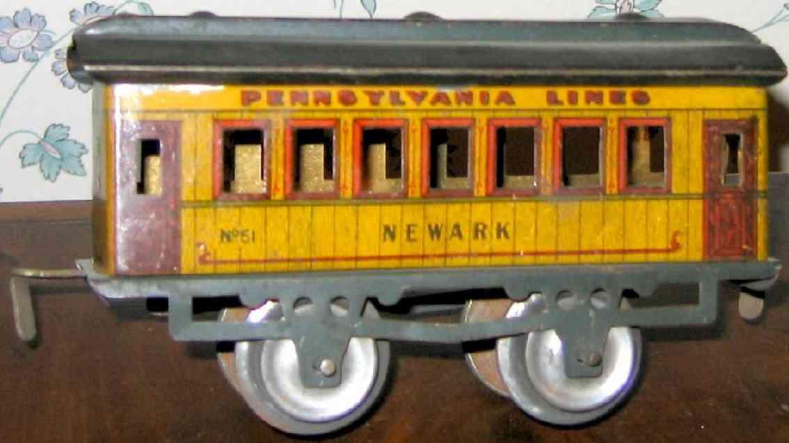 ives 51 1911 newark pennsylvania lines eisenbahn personenwagen gelb spur 0