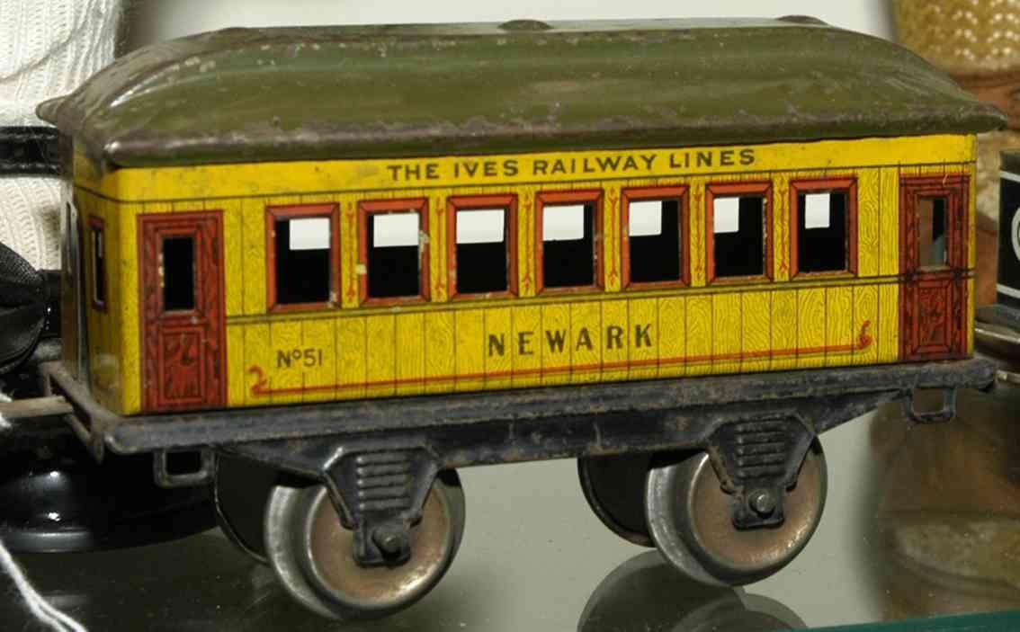 ives 51 1915 newark pennsylvania lines eisenbahn personenwagen gelb spur 0