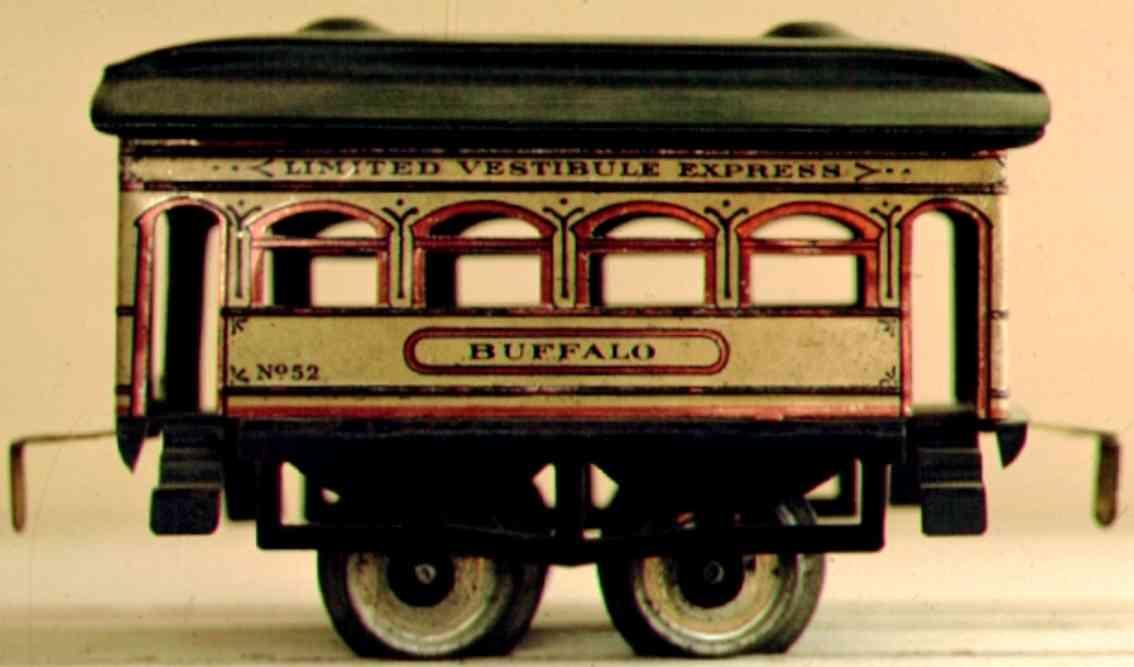 ives 52 1910 buffalo spielzeug eisenbahn personenwagen spur 0