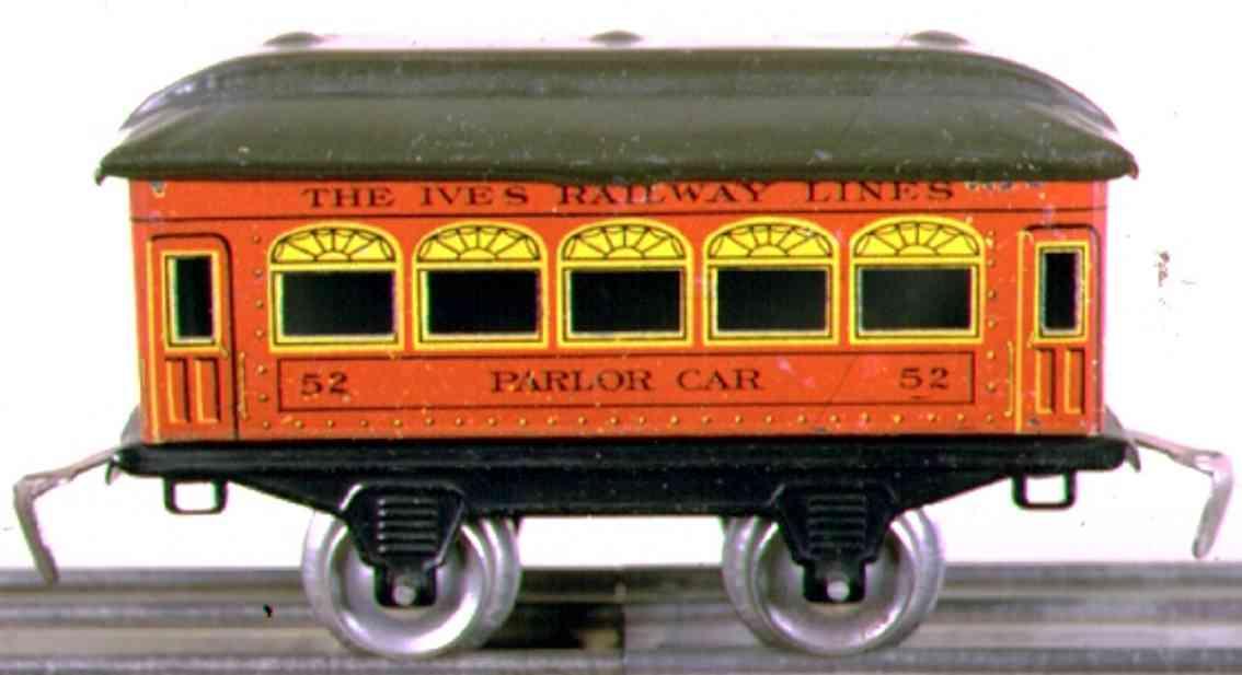 ives 52 1922 parlor spielzeug eisenbahn personenwagen orange spur 0