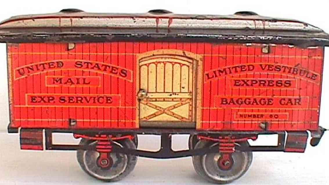 ives 60 1907 railway toy baggage car gauge 0