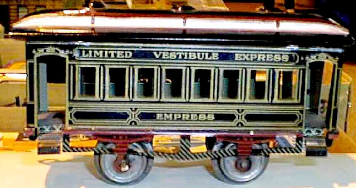 ives 61 empress railway toy passenger car gauge 0