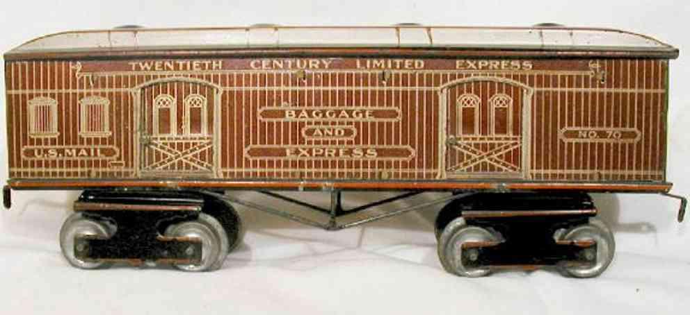 ives 70 railway toy earliest passenger car