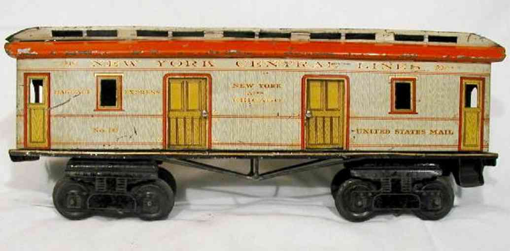 ives 70 railway toy passenger car the third series
