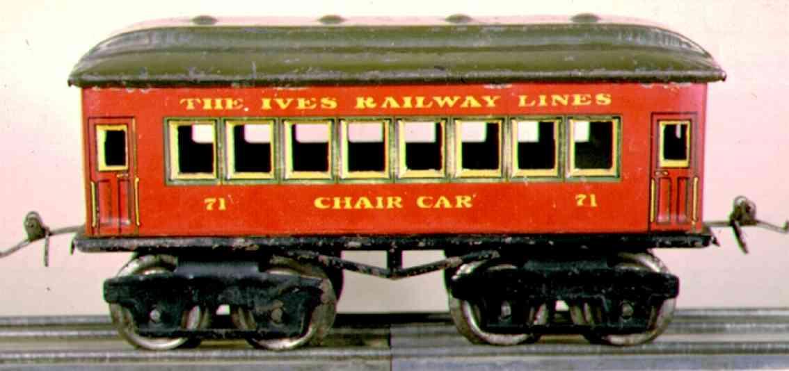 ives 71 1923 chair spielzeug eisenbahn personenwagen rot spur 0 ohne nieten
