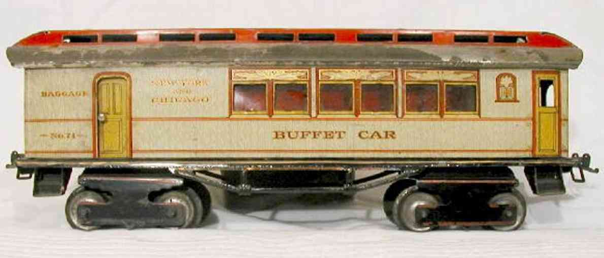 ives 71 railway toy buffet car white fifth version gauge 1