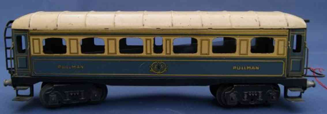 jep 5771 V railway toy passenger car rowing-man car; 4-axis; in creme and blue, small fans on the