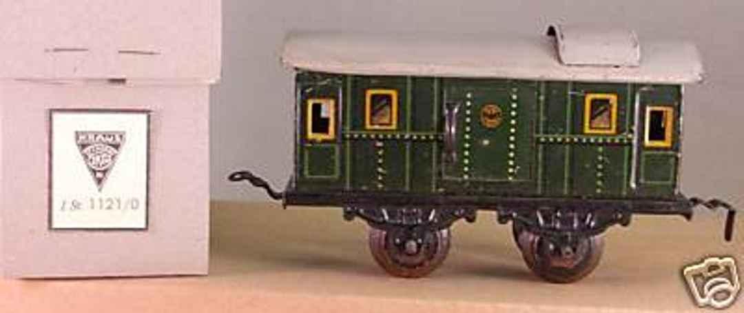 kraus-fandor 1121/0 spielzeug eisenbahn gepaeckwagen gruen spur 0