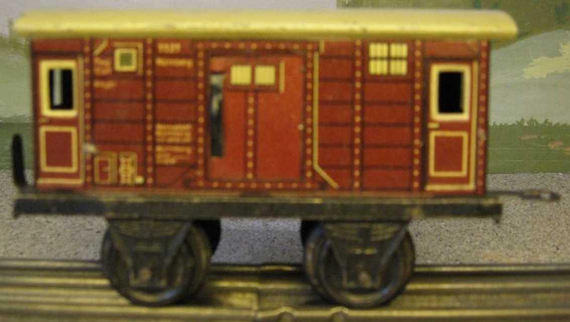 kraus-fandor 1121/0 spielzeug eisenbahn gepaeckwagen braun spur 0