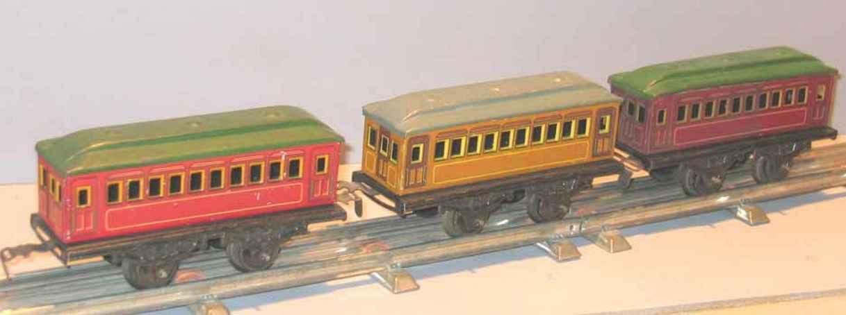 kraus-fandor 1202 spielzeug eisenbahn personenwagen personenwagen; 2-achsig; chromlithografiert,ohne puffer