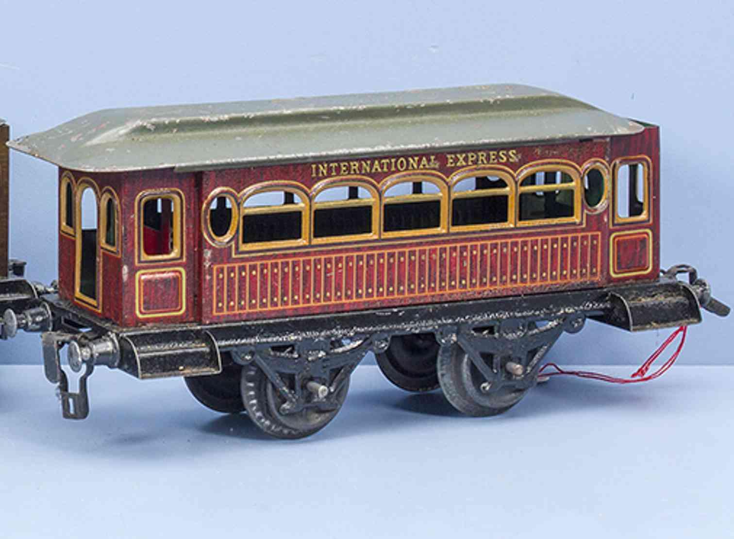 kraus-fandor 1206 spielzeug eisenbahn personenwagen international express spur 1