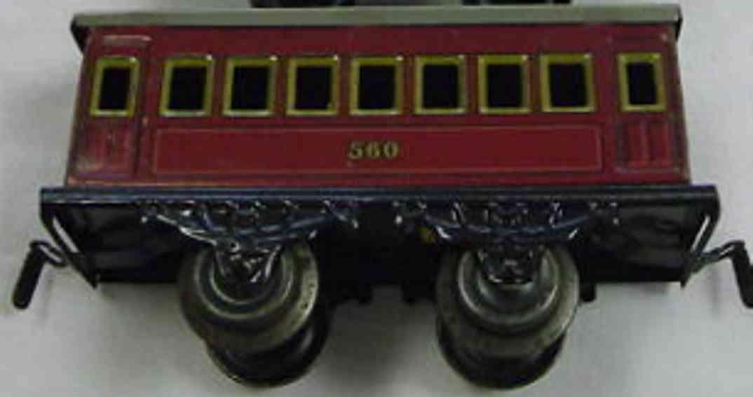 kraus-fandor 1207/0 spielzeug eisenbahn personenwagen  rotbraun spur 0