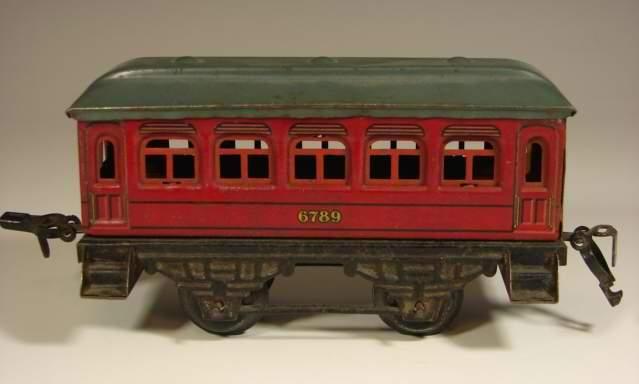 kraus-fandor 1213 spielzeug eisenbahn personenwagen rot spur 0