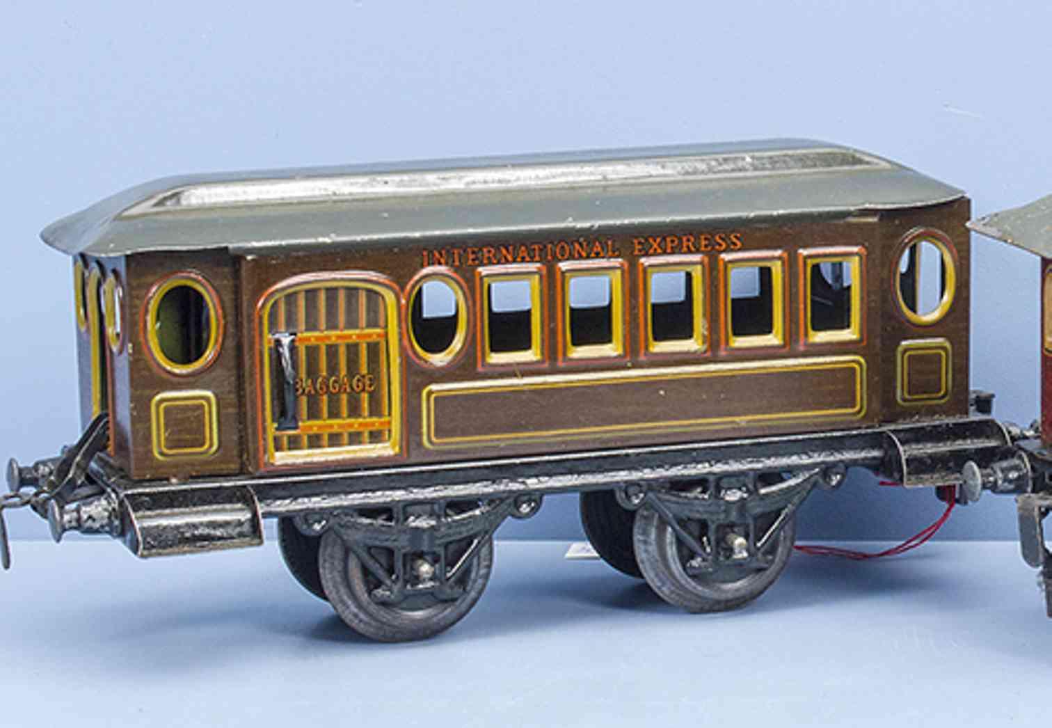 kraus-fandor 1263 spielzeug eisenbahn personen-gepaeckwagen international express spur 1