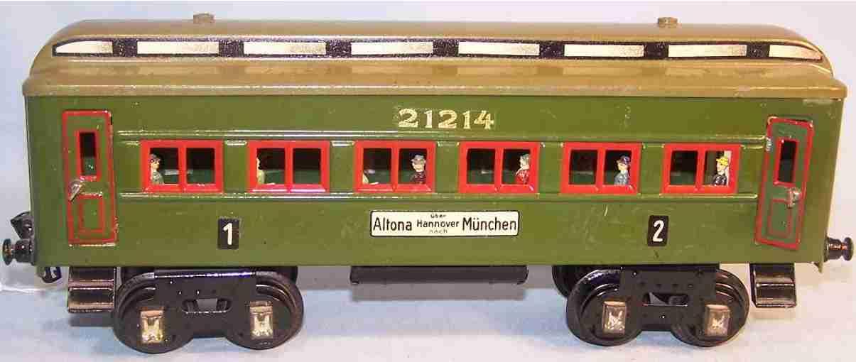 kraus-fandor 1214 altona spielzeug eisenbahn personenwagen 1. 2. klasse spur 1
