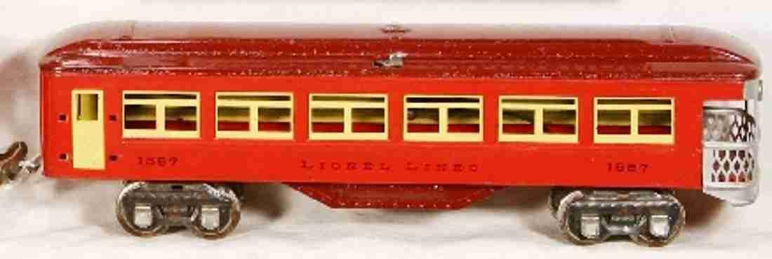 lionel 1687/0/v spielzeug eisenbahn aussichtswagen typ v kastanienbraun spur 0