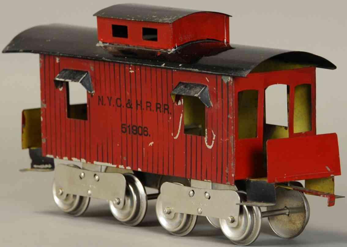 lionel 17 51906 eisenbahn caboose rot schwarz standard gauge