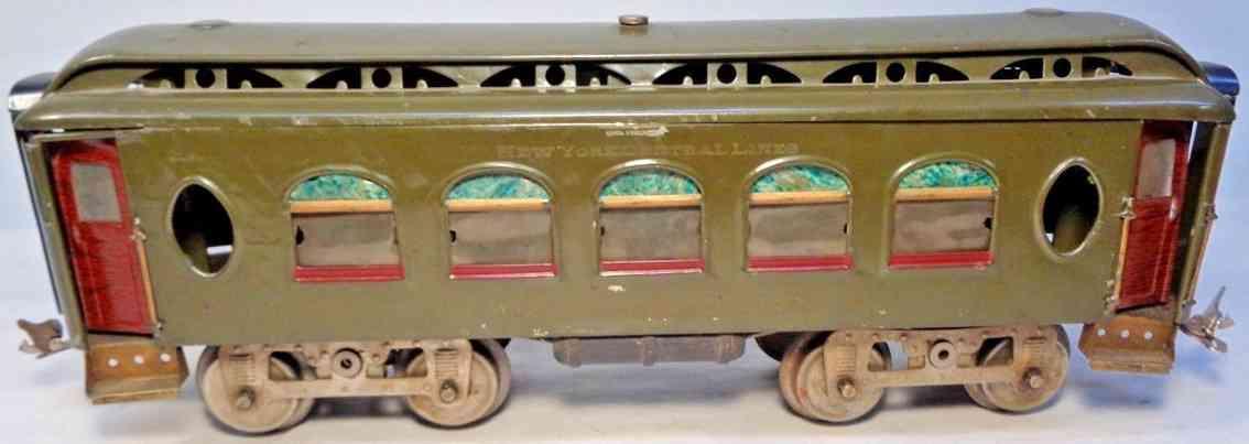 lionel 18 spielzeug eisenbahn schlafwagen olive-gruen standard gauge