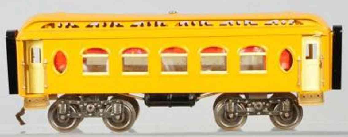 lionel 18 spielzeug eisenbahn schlafwagen gelb-orange standard gauge