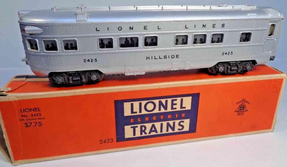 lionel 2423 spielzeug eisenbahn personenwagen hillside silvern grau spur 0 027