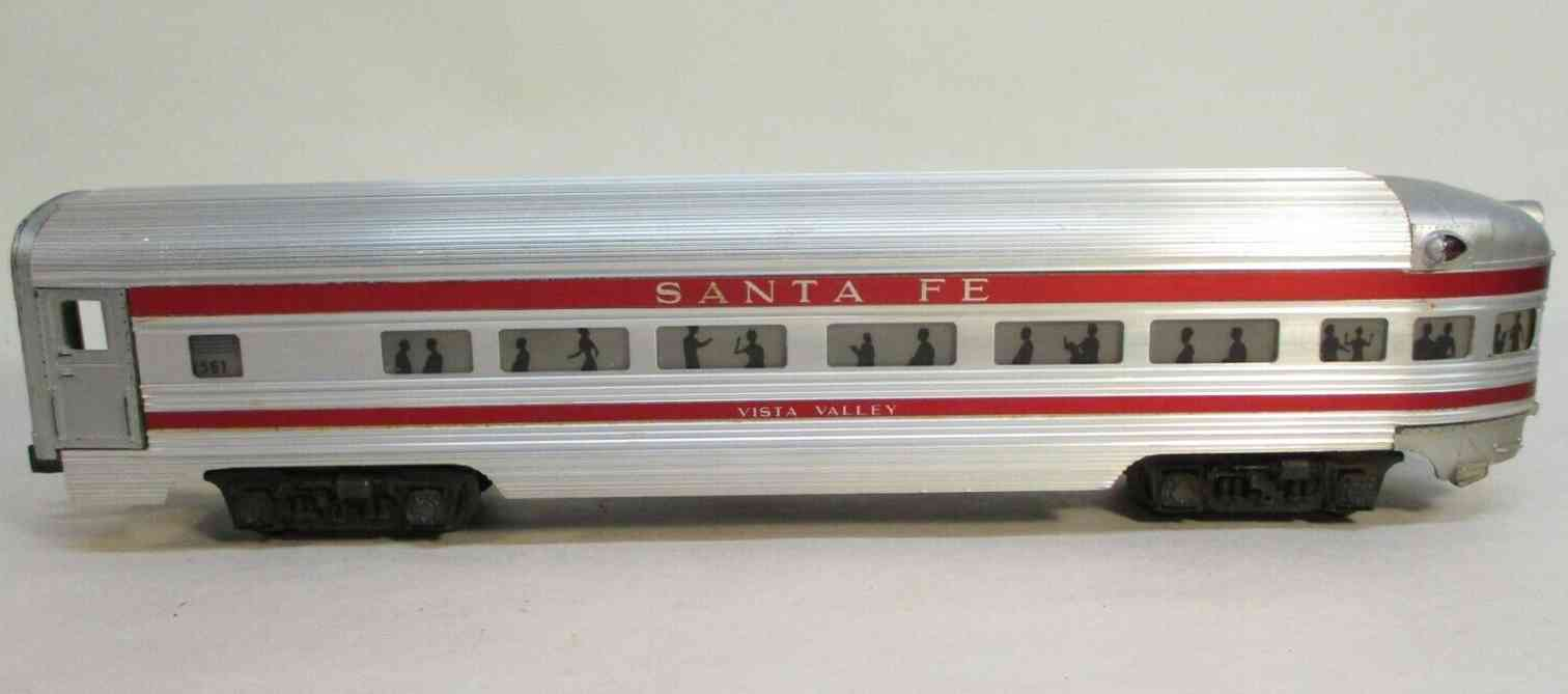 lionel 2561 railway toy santa fe vista valley observation car gauge 0