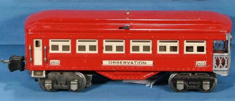 Lionel 2601/I Personenwagen Aussichtswagen