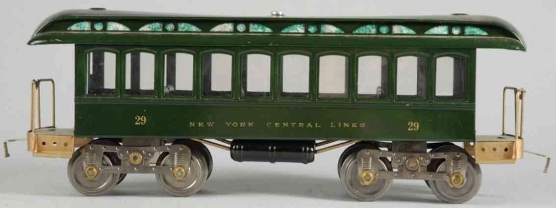 lionel 29 spielzeug eisenbahn personenwagen dunkelgruen standard gauge