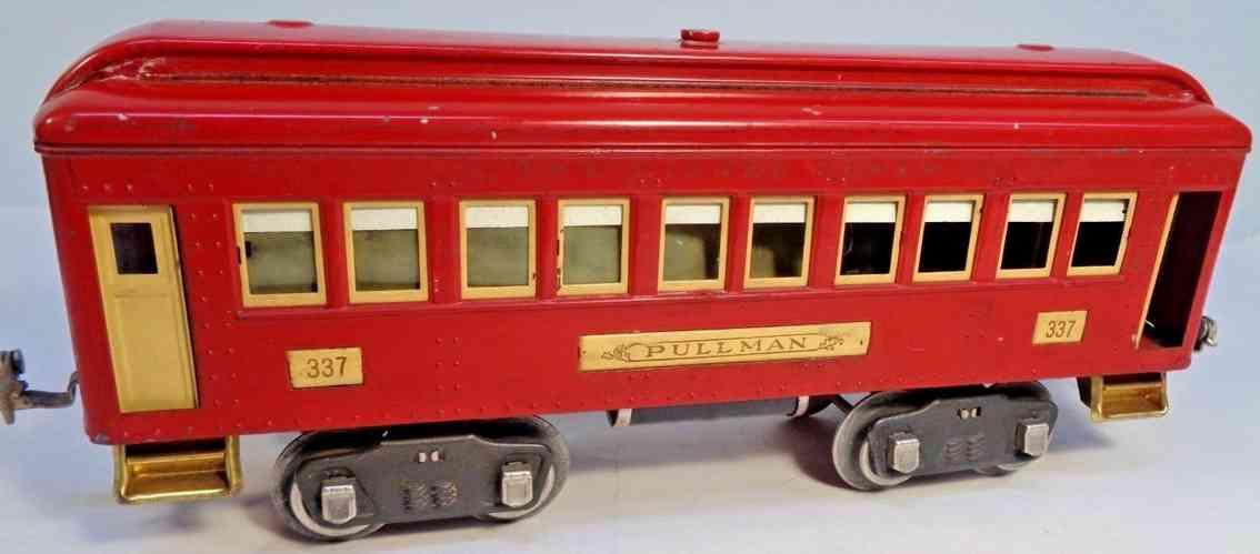 lionel 337 spielzeug eisenbahn schlafwagen rot creme standard gauge