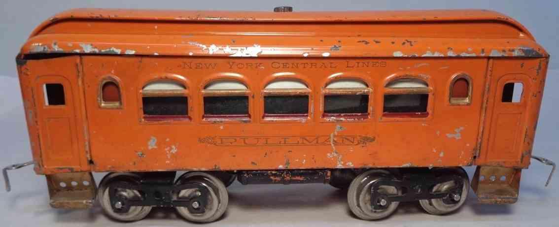 lionel 35 spielzeug eisenbahn schlafwagen orange standard gauge