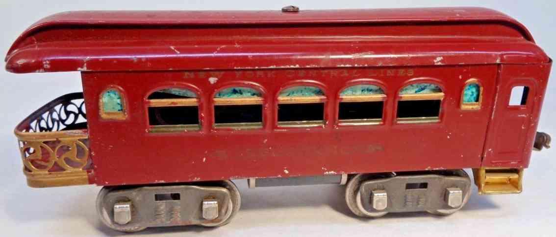lionel 36 spielzeug eisenbahn aussichtswagen braun standard gauge